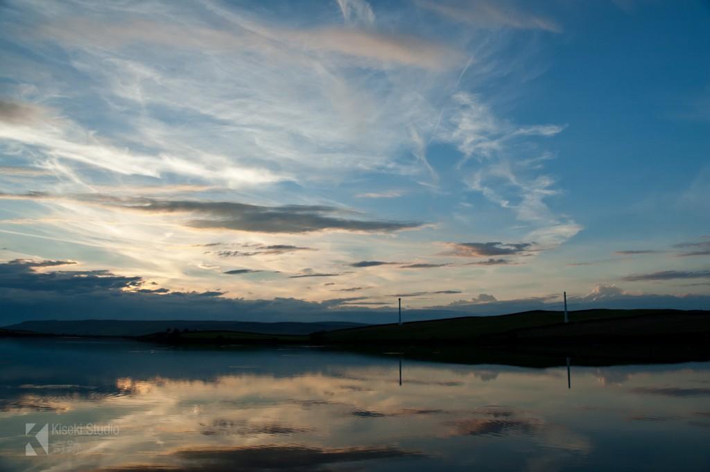 Chelker Reservoir Cloudy Sunset