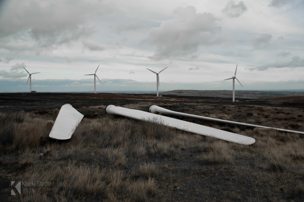 Mixenden Wind Farm Turbine Blades