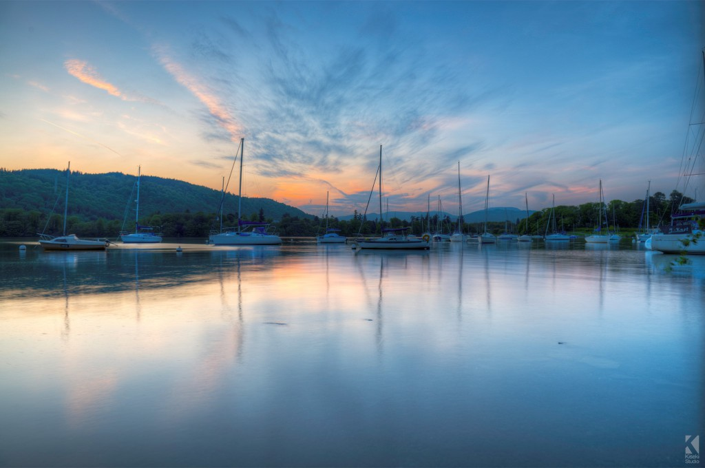 Sunset on Lake Windermere HDR