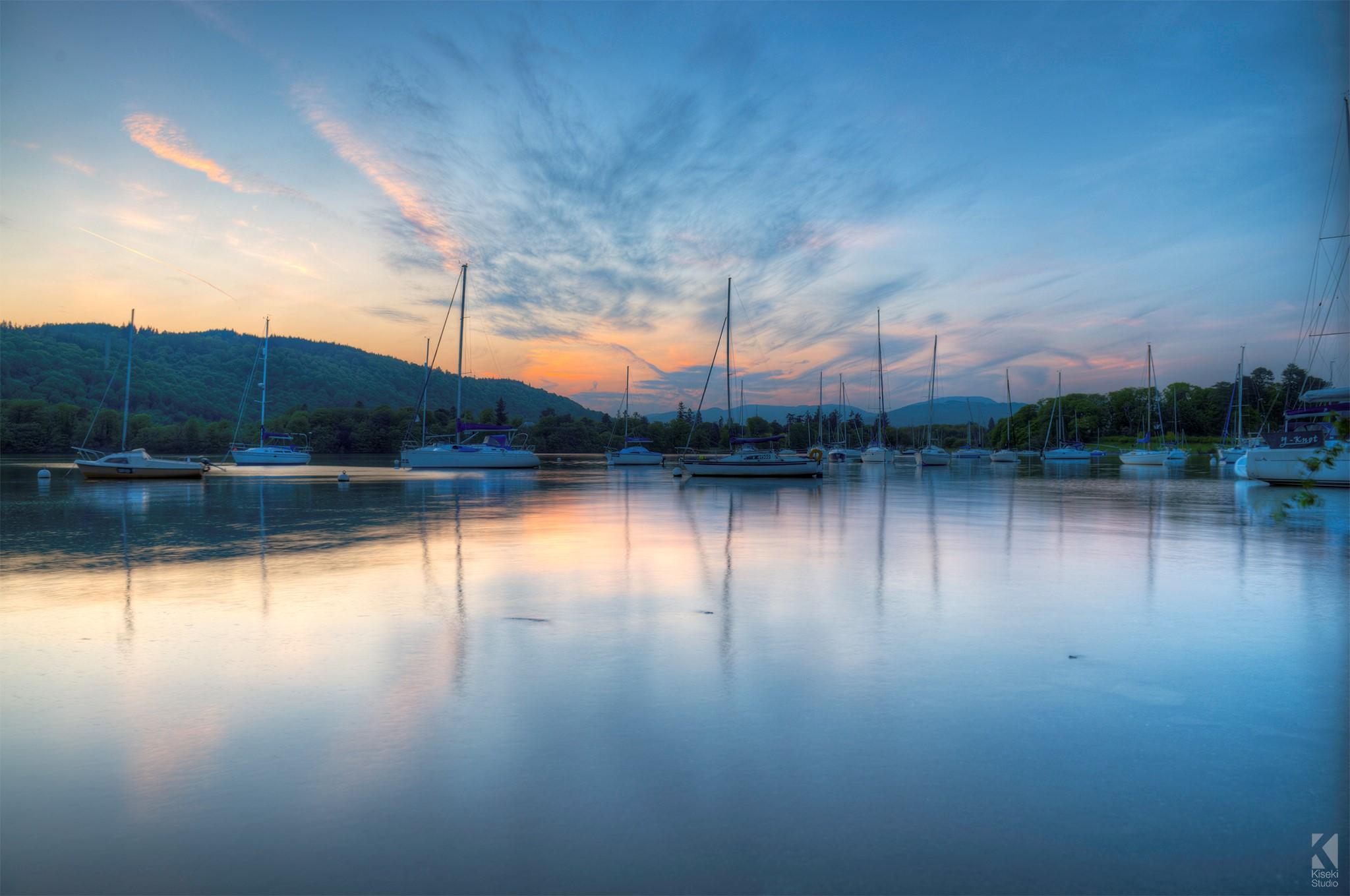 Sunset on Lake Windermere HDR