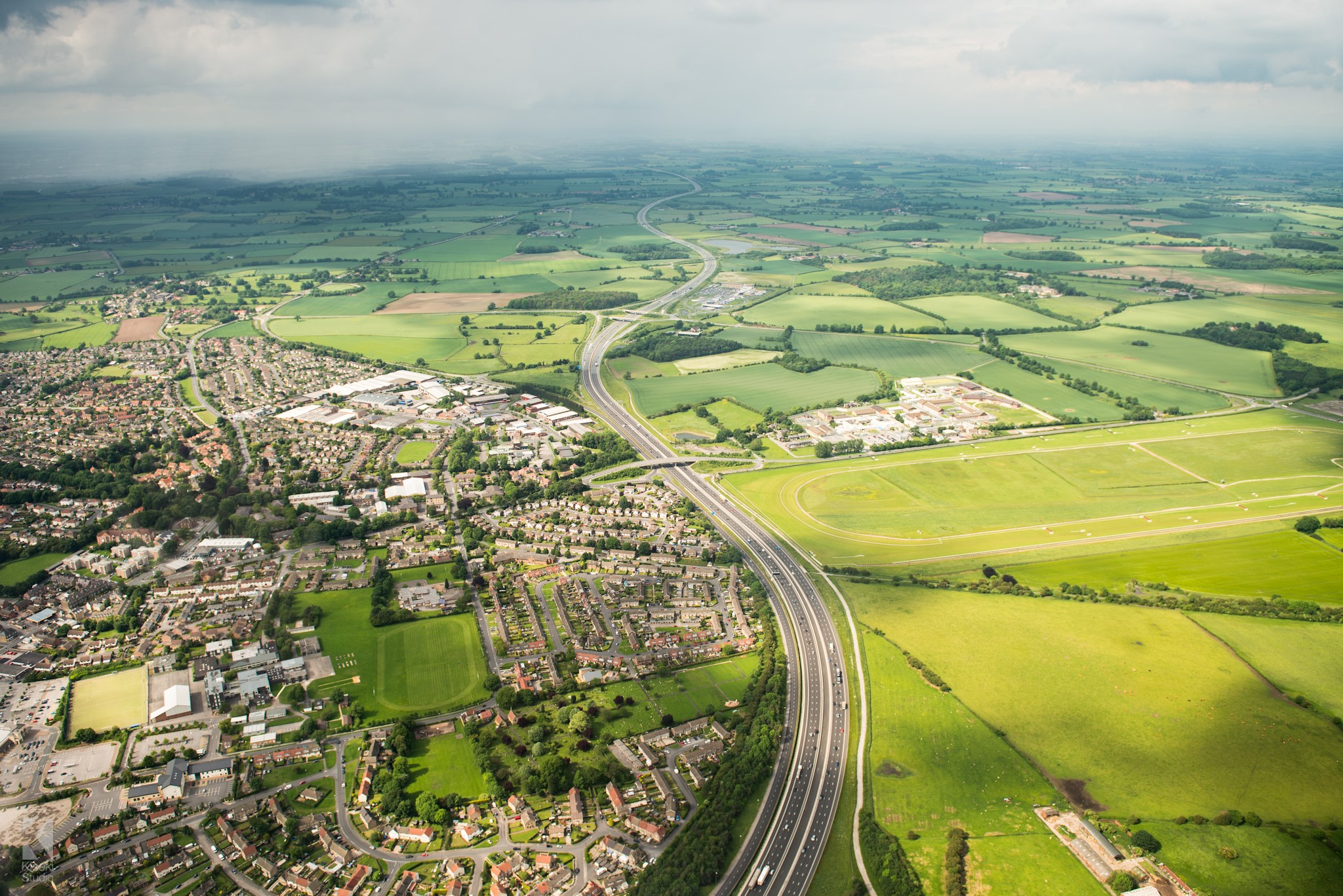 A1 Wetherby Racecourse aeriel photo