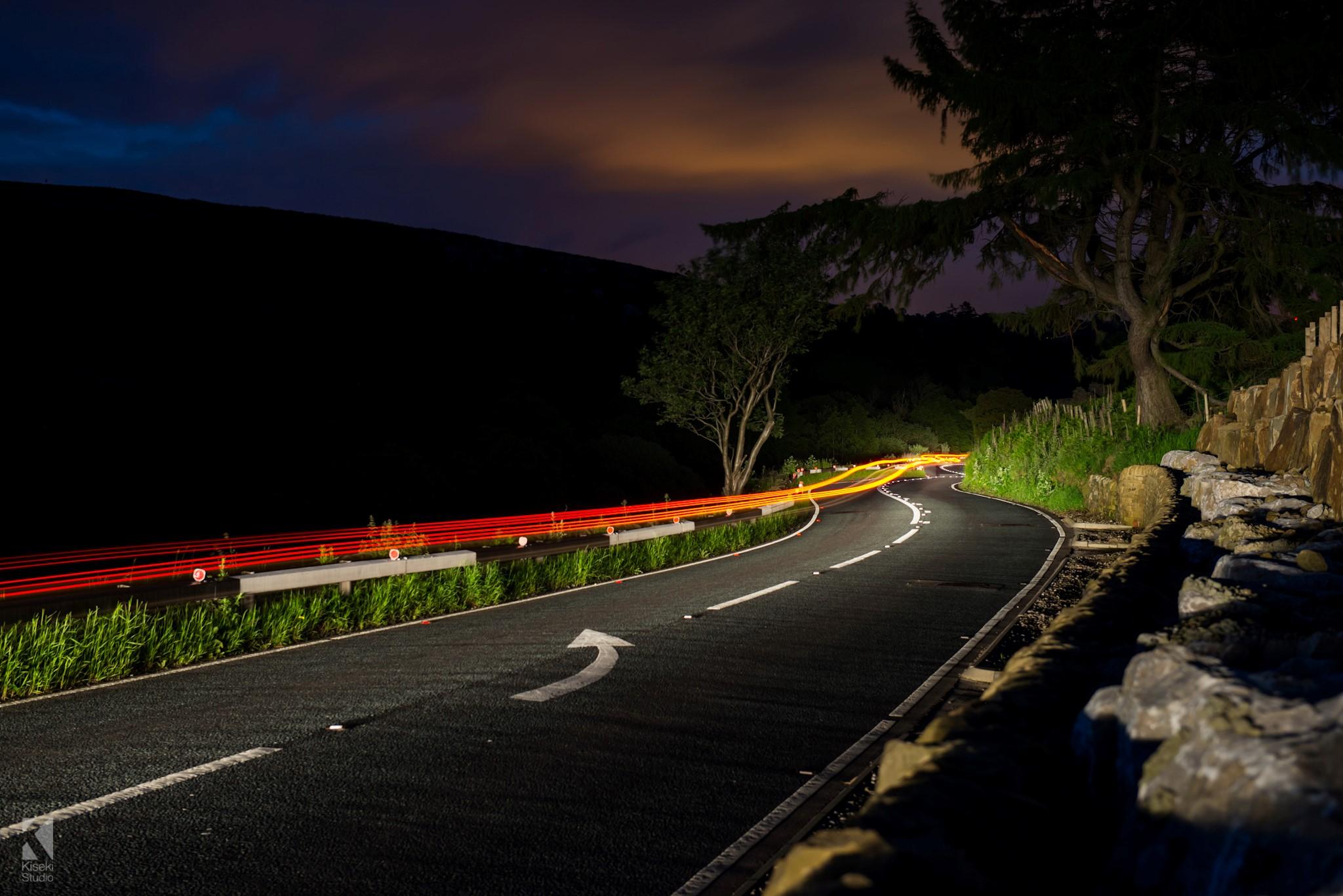 A59 Blubberhouses light trails