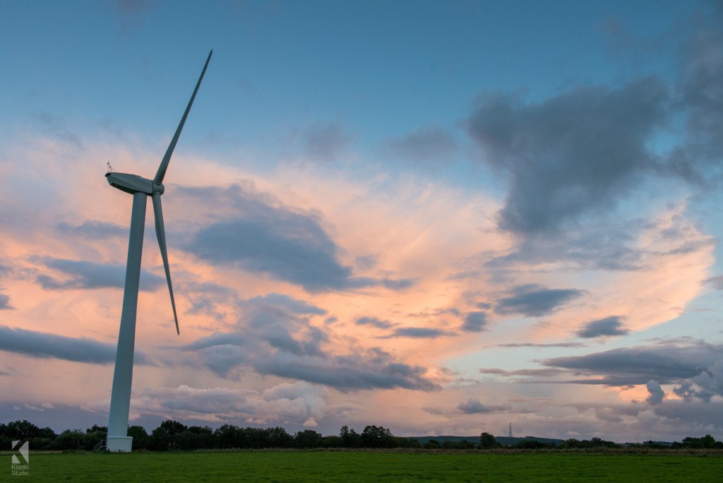 Blubberhouses Wind Turbine sunset