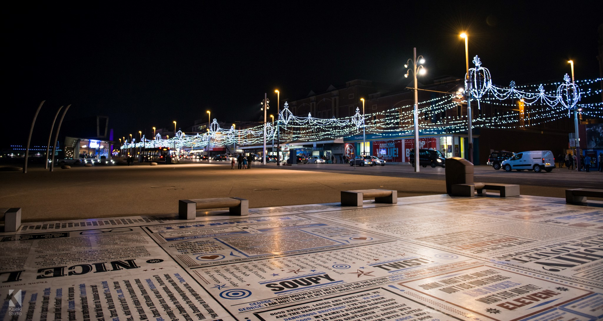 Blackpool Promenade and illuminations