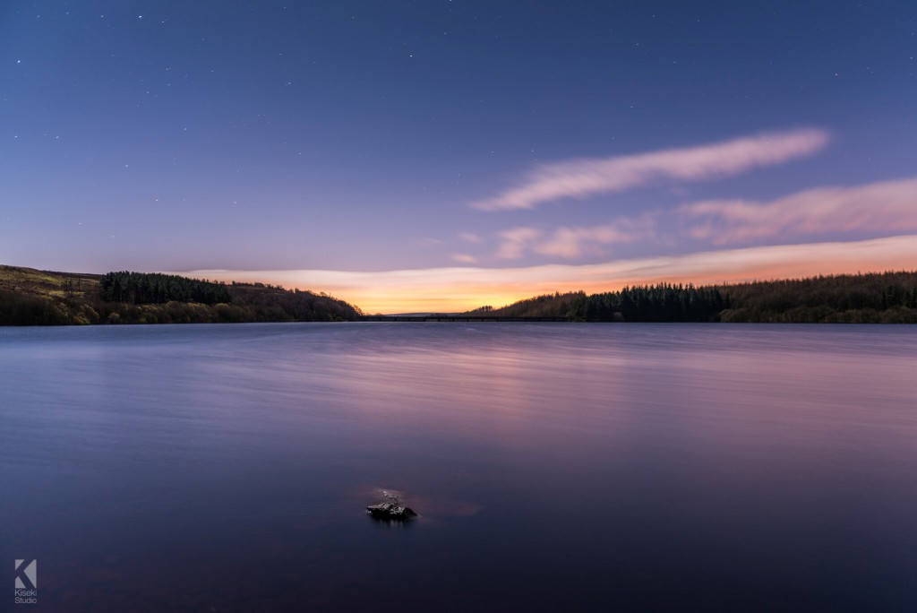 Thruscross Reservoir clear night