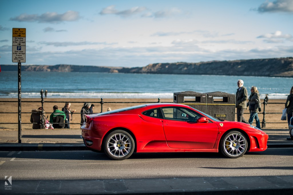 Ferrari F430 on Scarborough seafront