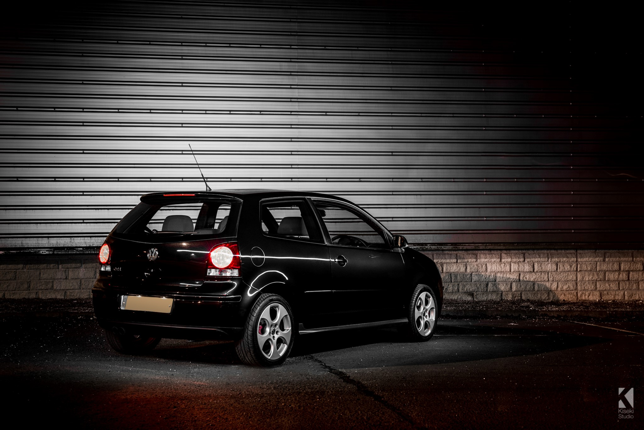 vw polo gti 9n in black kiseki studio