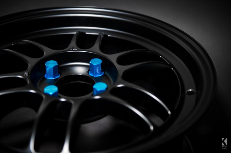 Enkei Locking Racing Wheel Nuts Blue