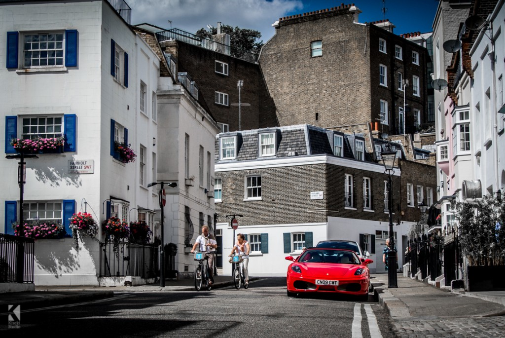 Ferrari F430 on London streets