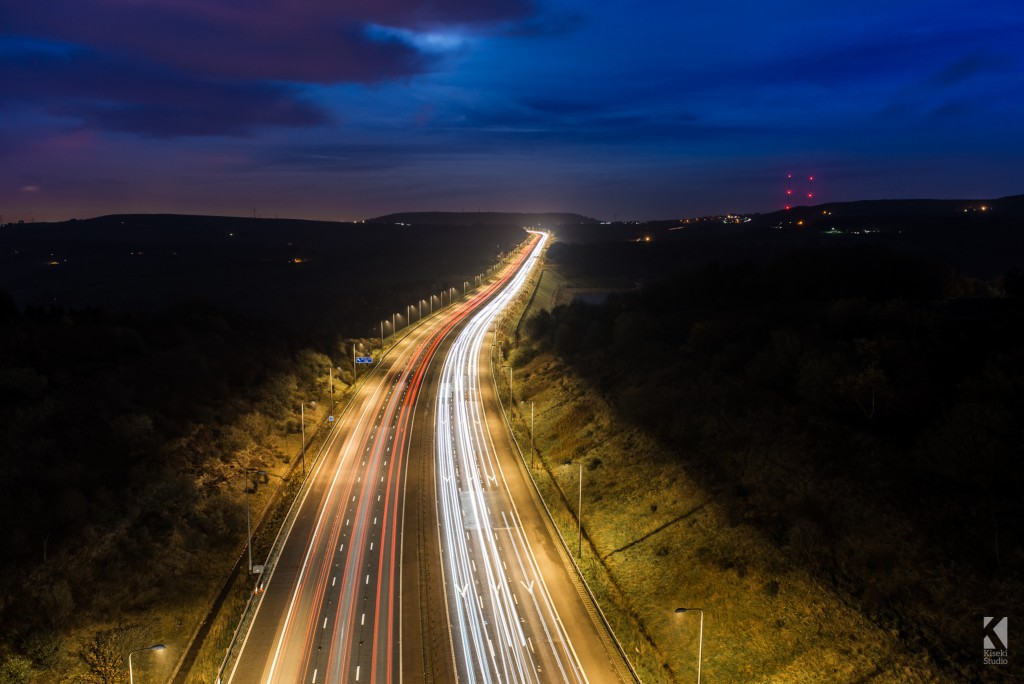M62 Light Trails at Saddleworth