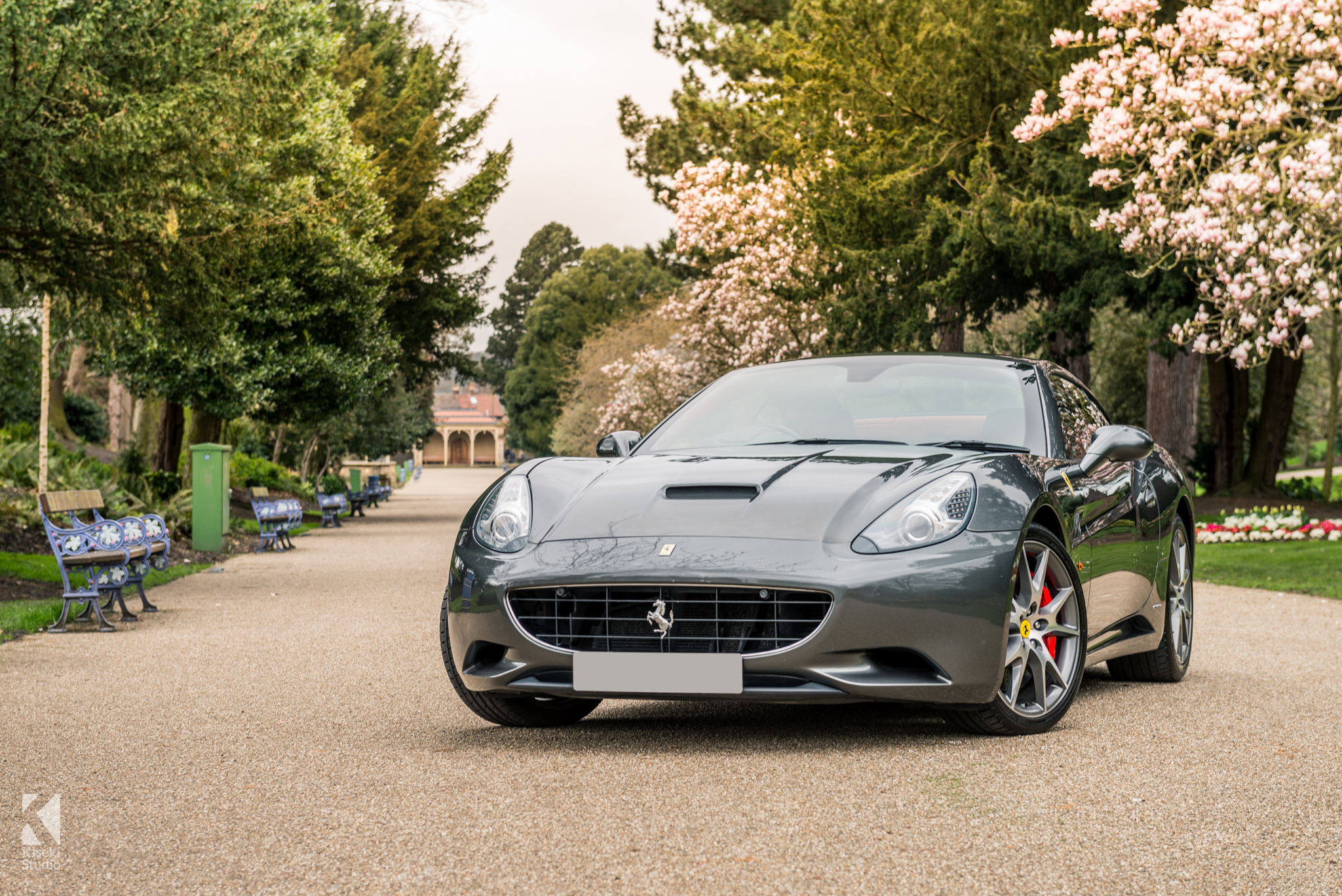 Grey ferrari california