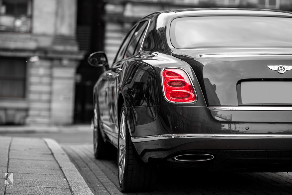 Bentley Mulsanne in Grey rear