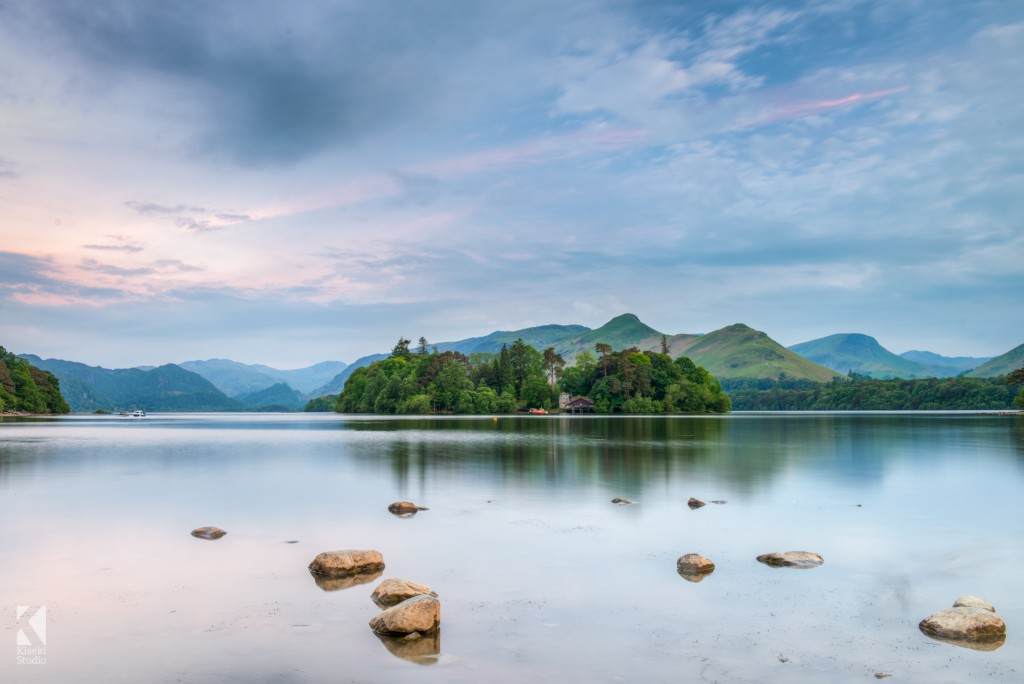 Derwentwater in Keswich at sunset