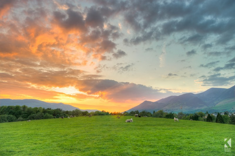 Keswick Summer Sunset Canvas Print