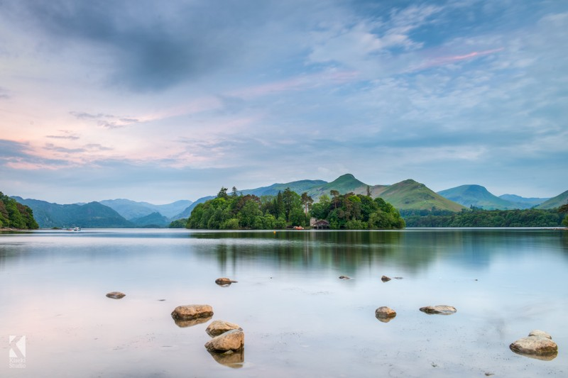 The Blue Hour on Derwentwater Canvas Print