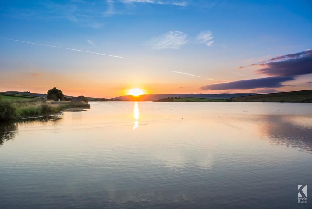Sunset at Chelker reservoir