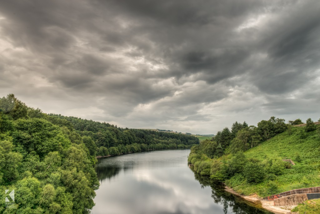 Brownhill reservoir in Holmfirth