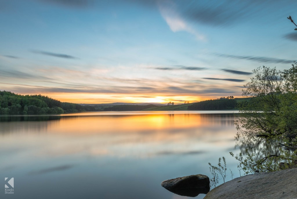 Long Exposure of the sunset at Thruscross Reservoir