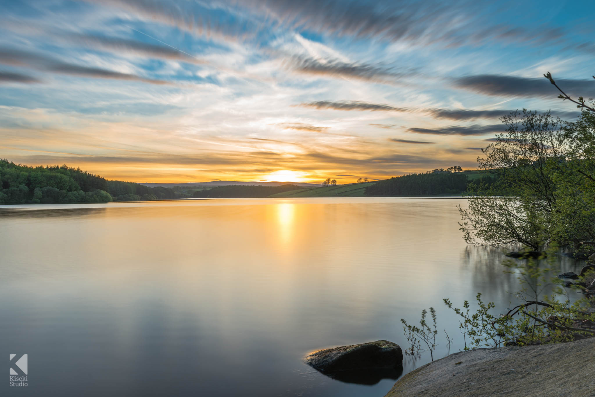 Thruscross Reservoir at Sunset near Harrogate