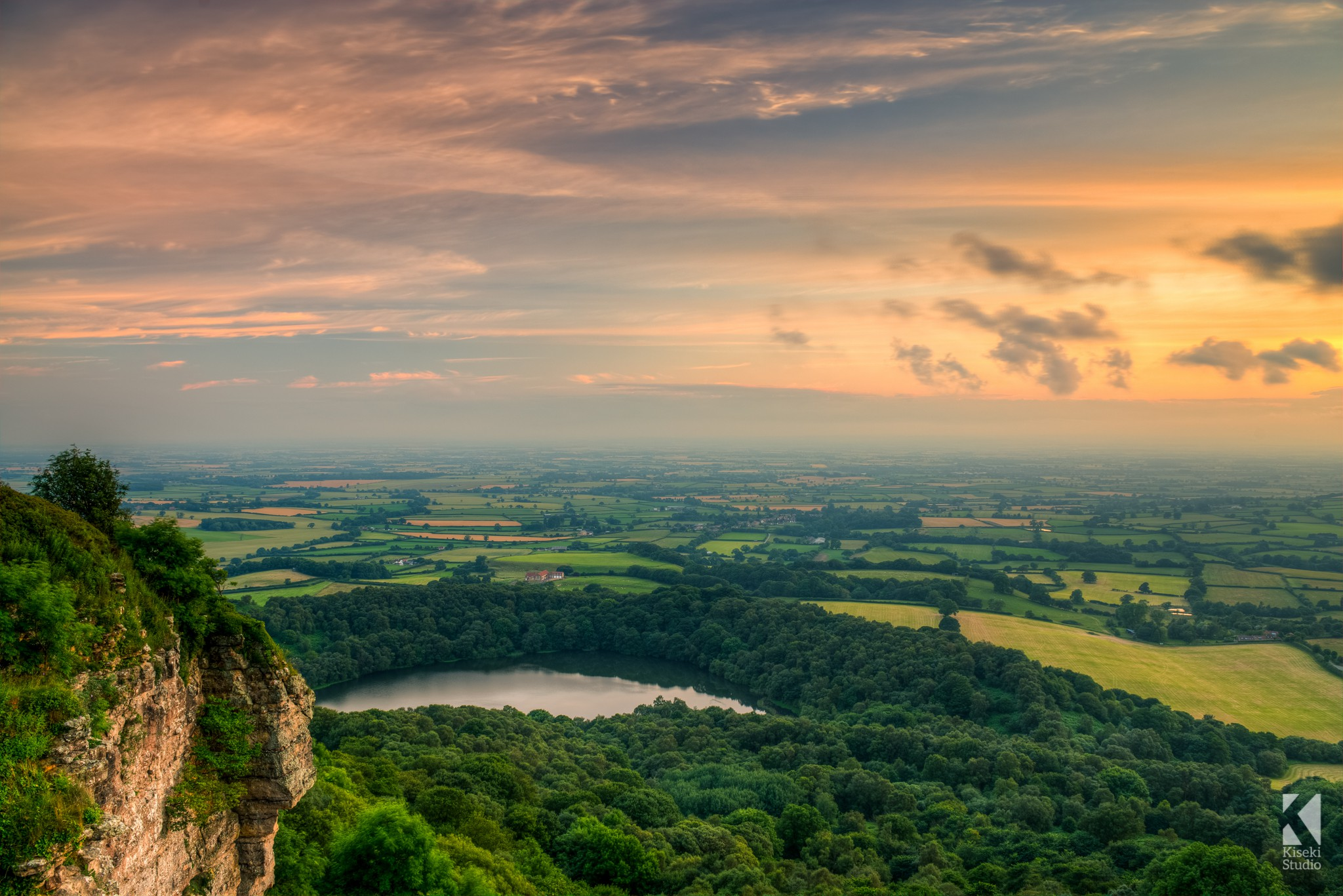 Sunset over Sutton Bank Canvas Print