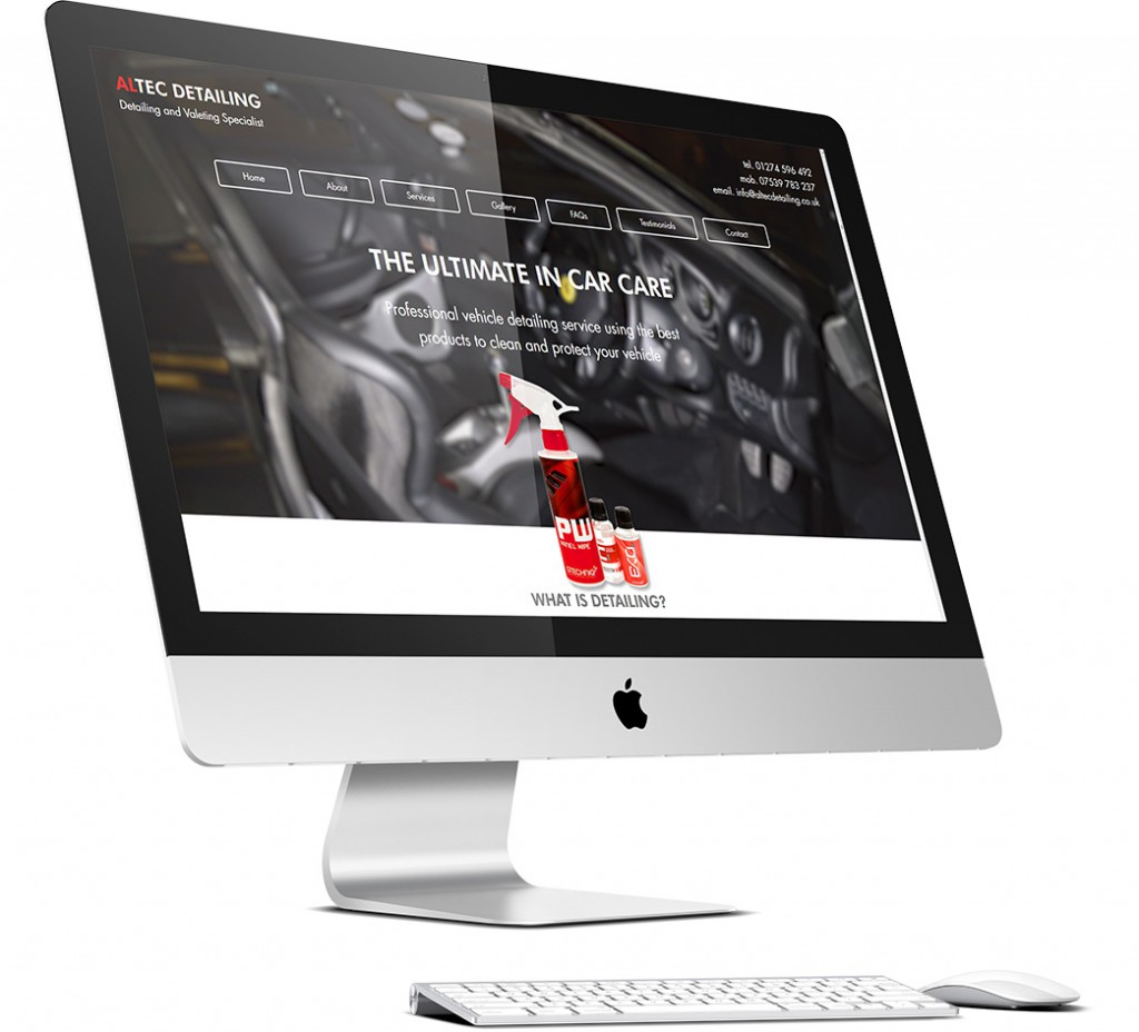 Altec Detailing Website Design
