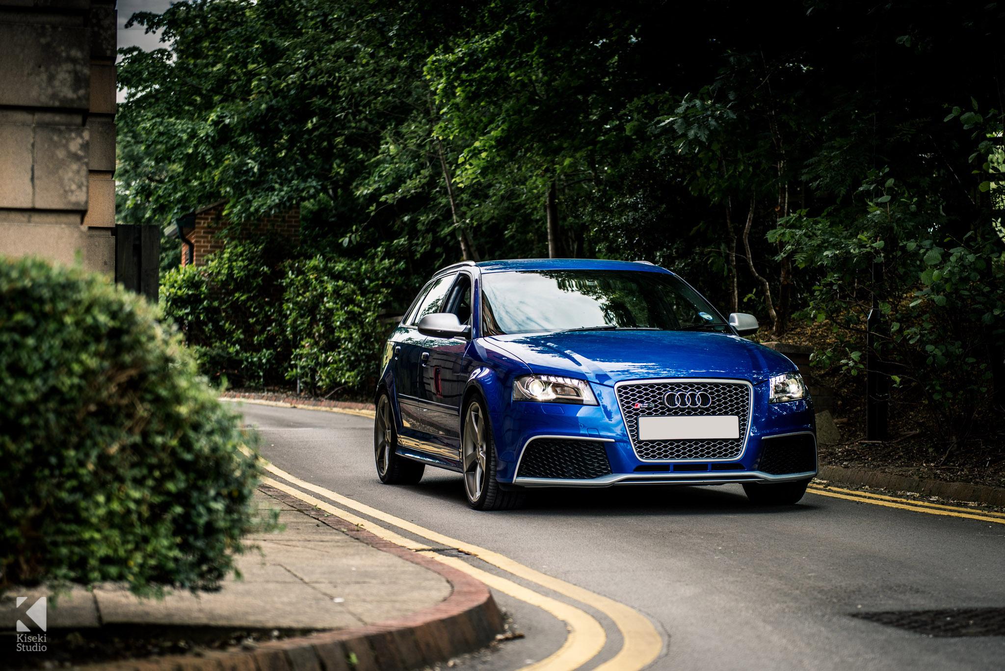 Audi RS3 in Sepang Blue
