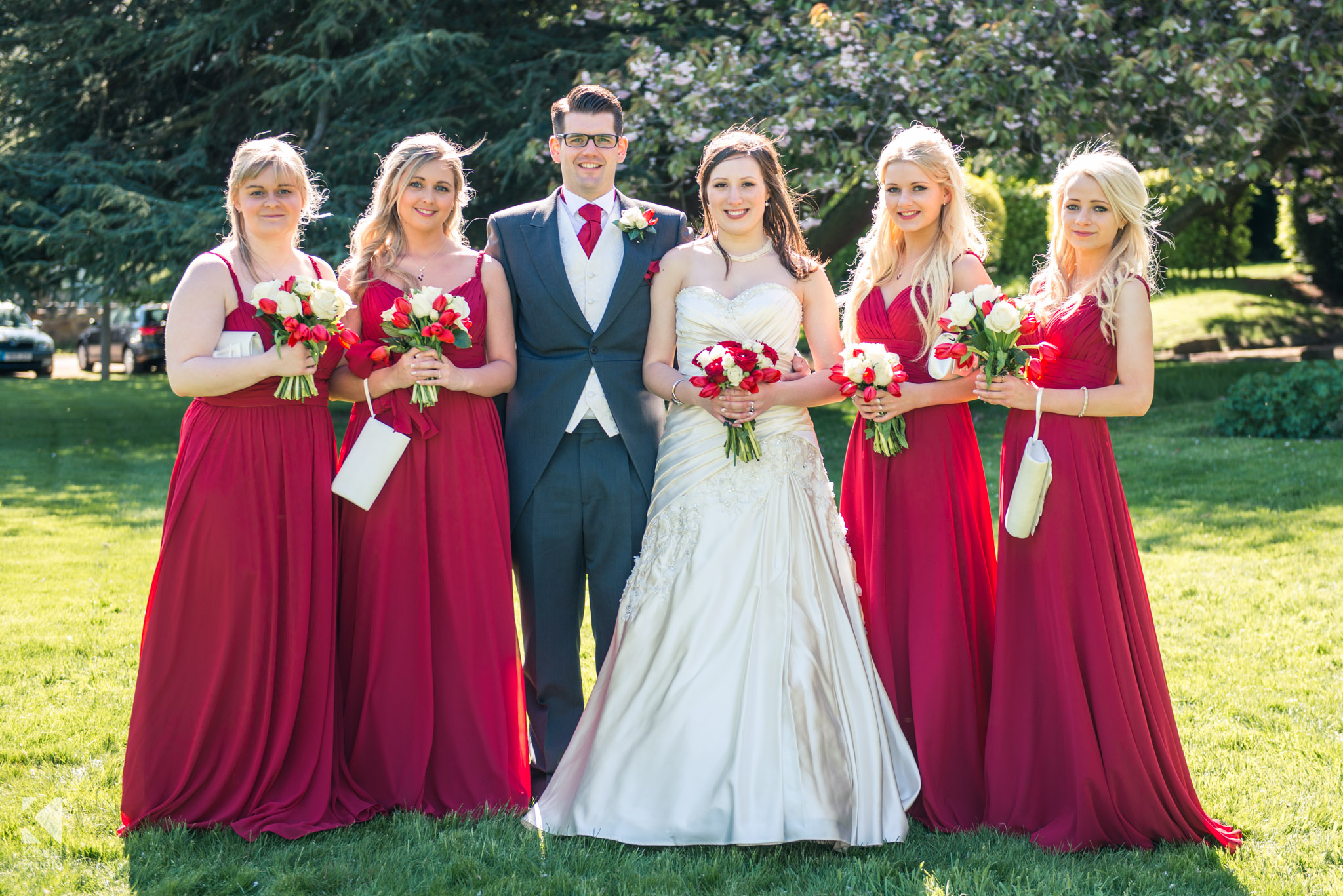 The Bride Groom And Bridesmaids