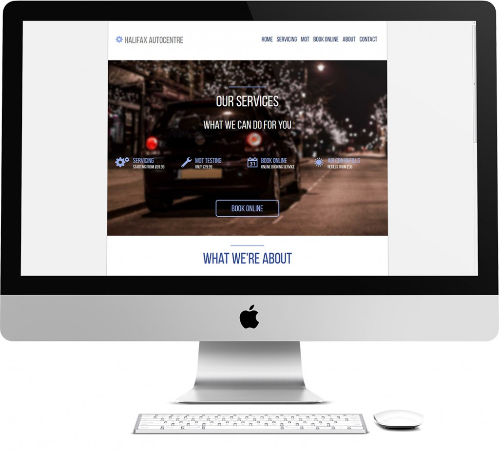 Halifax Autocentre Website Design
