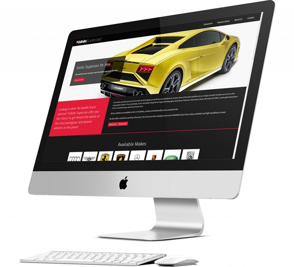 Infinite Supercars Website Design
