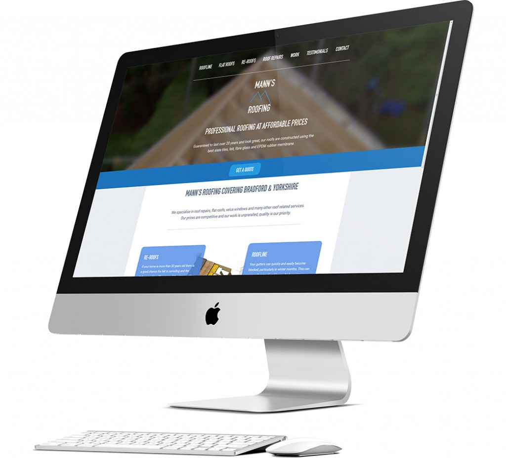Mann's Roofing Website Design
