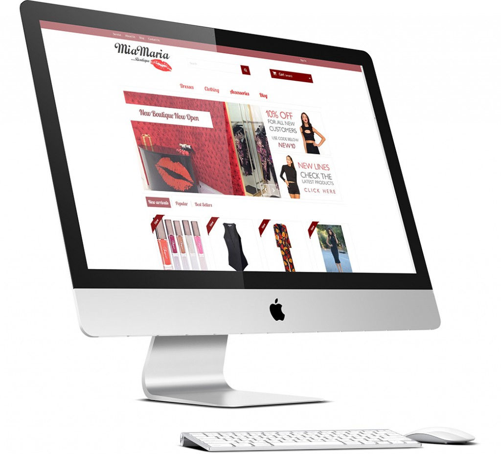 MiaMaria Boutique Website Design