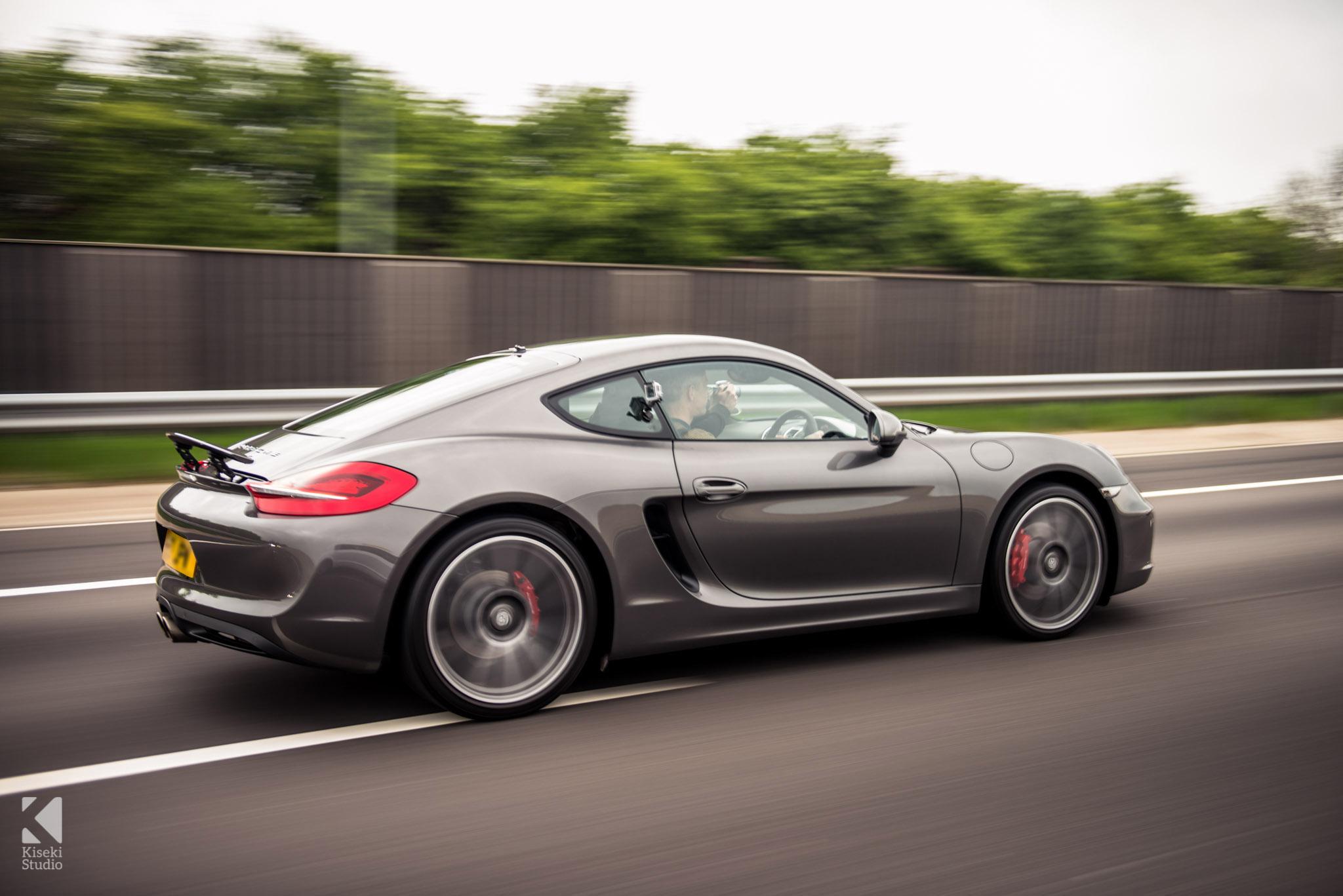 Porsche Cayman S rolling