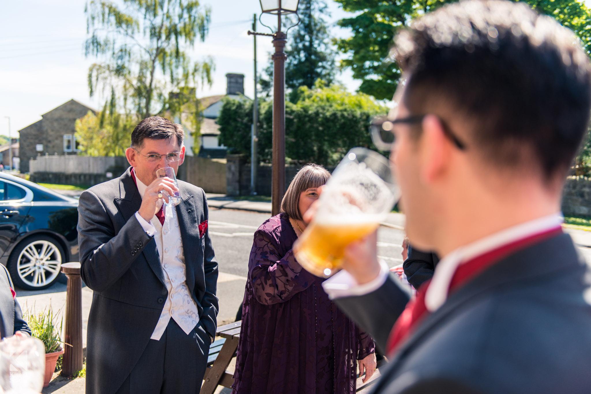 Pre-wedding drinks with the groomsmen