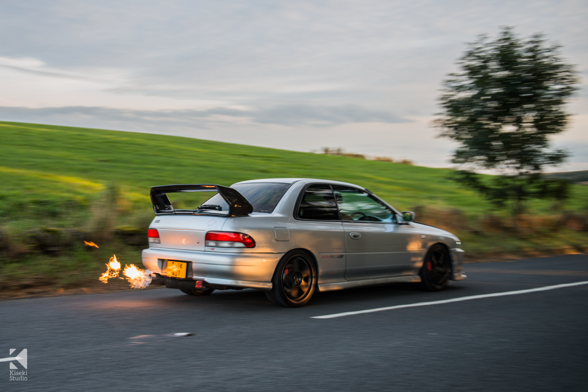 Subaru Impreza STI Type R GC8 Flaming