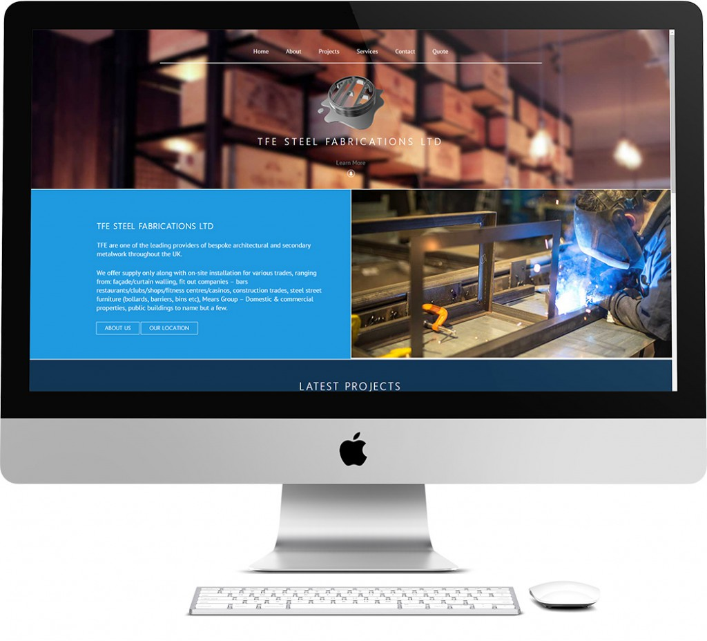 TFE Steel Fabrications Ltd Website Design