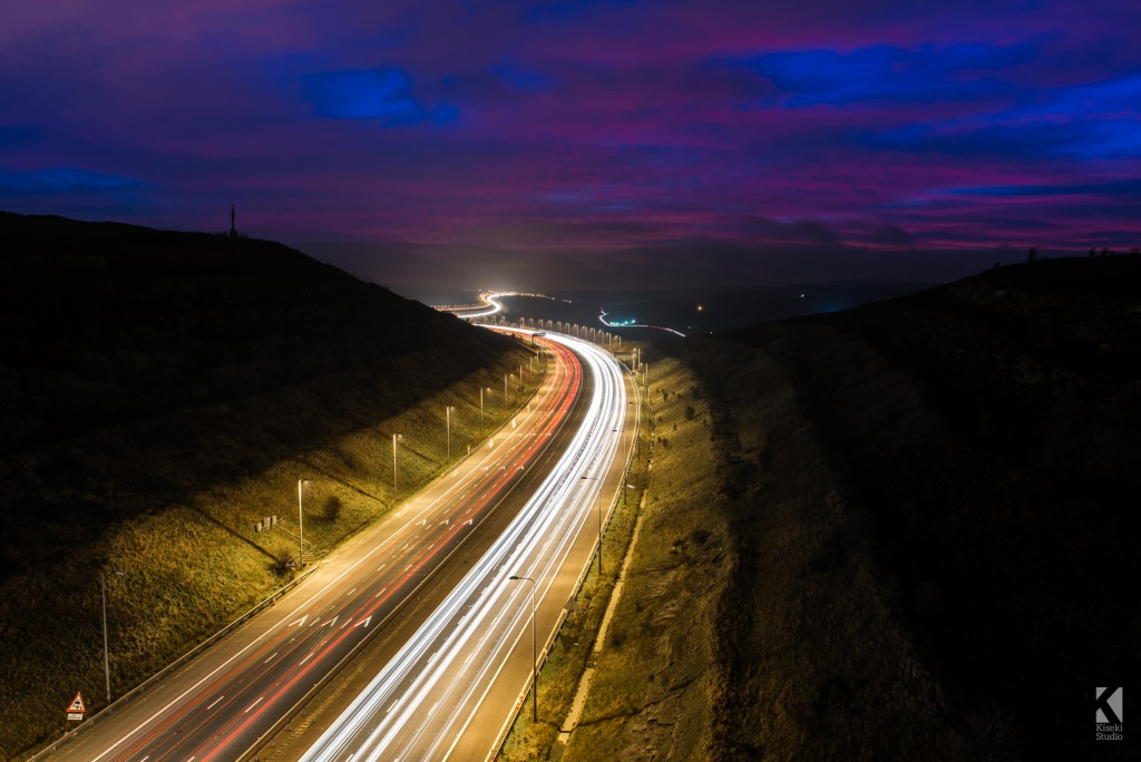 M62 Saddleworth Moor Light Trails