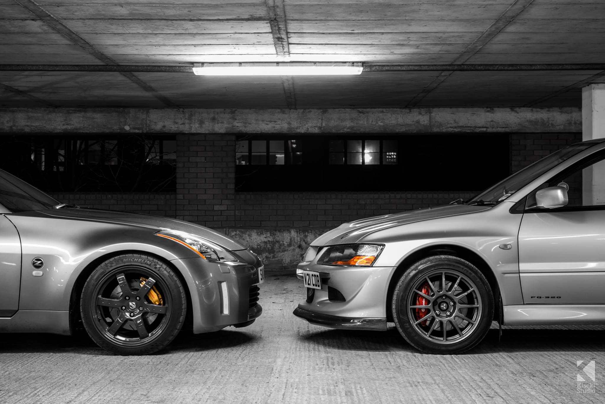 Nissan 350Z Z33 vs Mitsubishi Lancer Evolution 9 MR