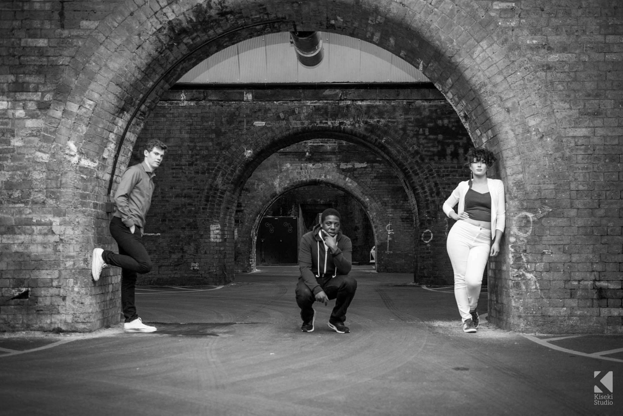Band Photography in the Dark Arches, Leeds