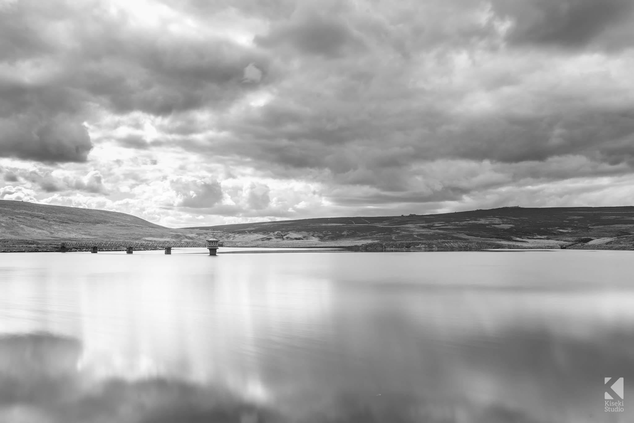 Black and White Upper Barden Reservoir