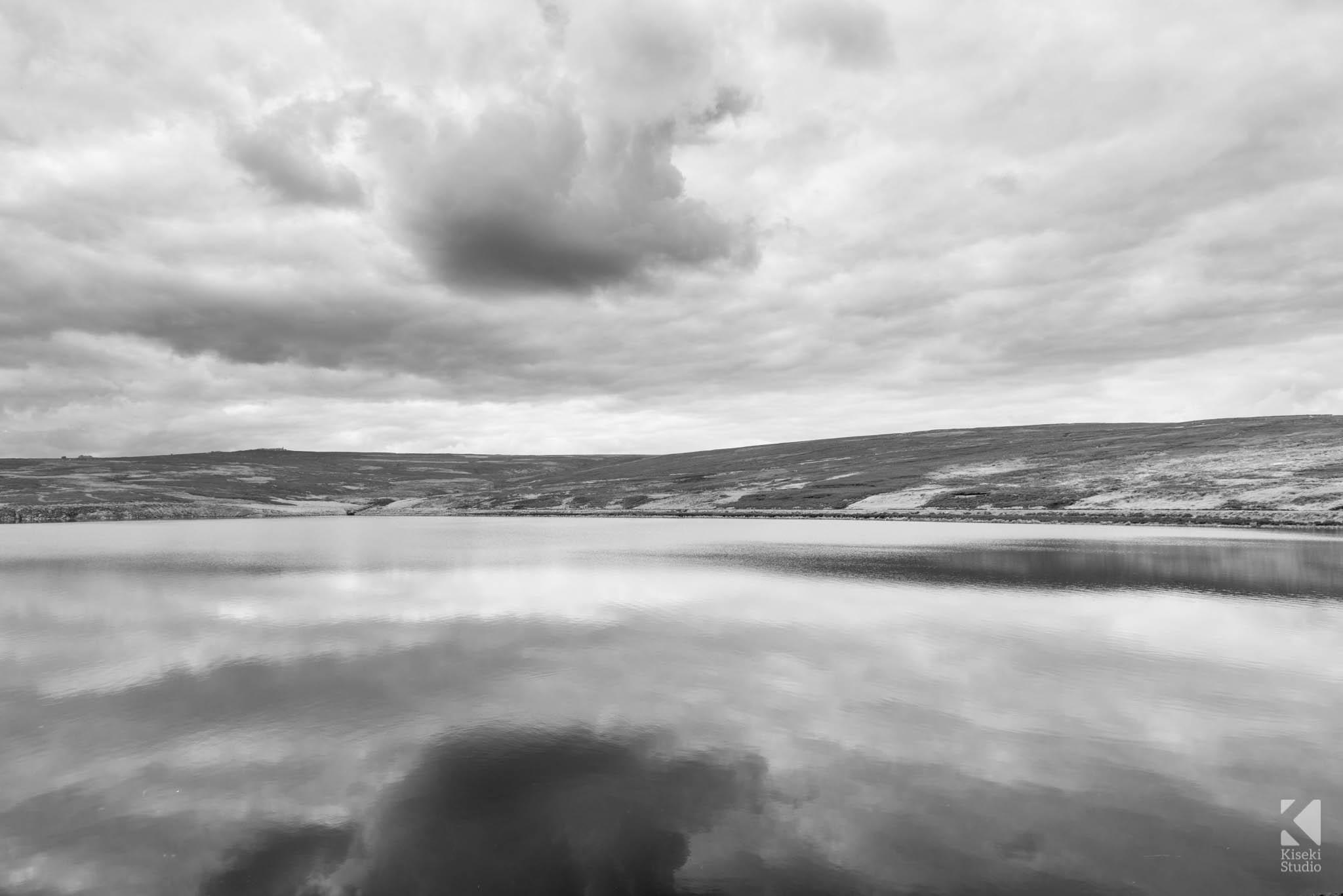 Long Exposure Black and White Upper Barden Reservoir