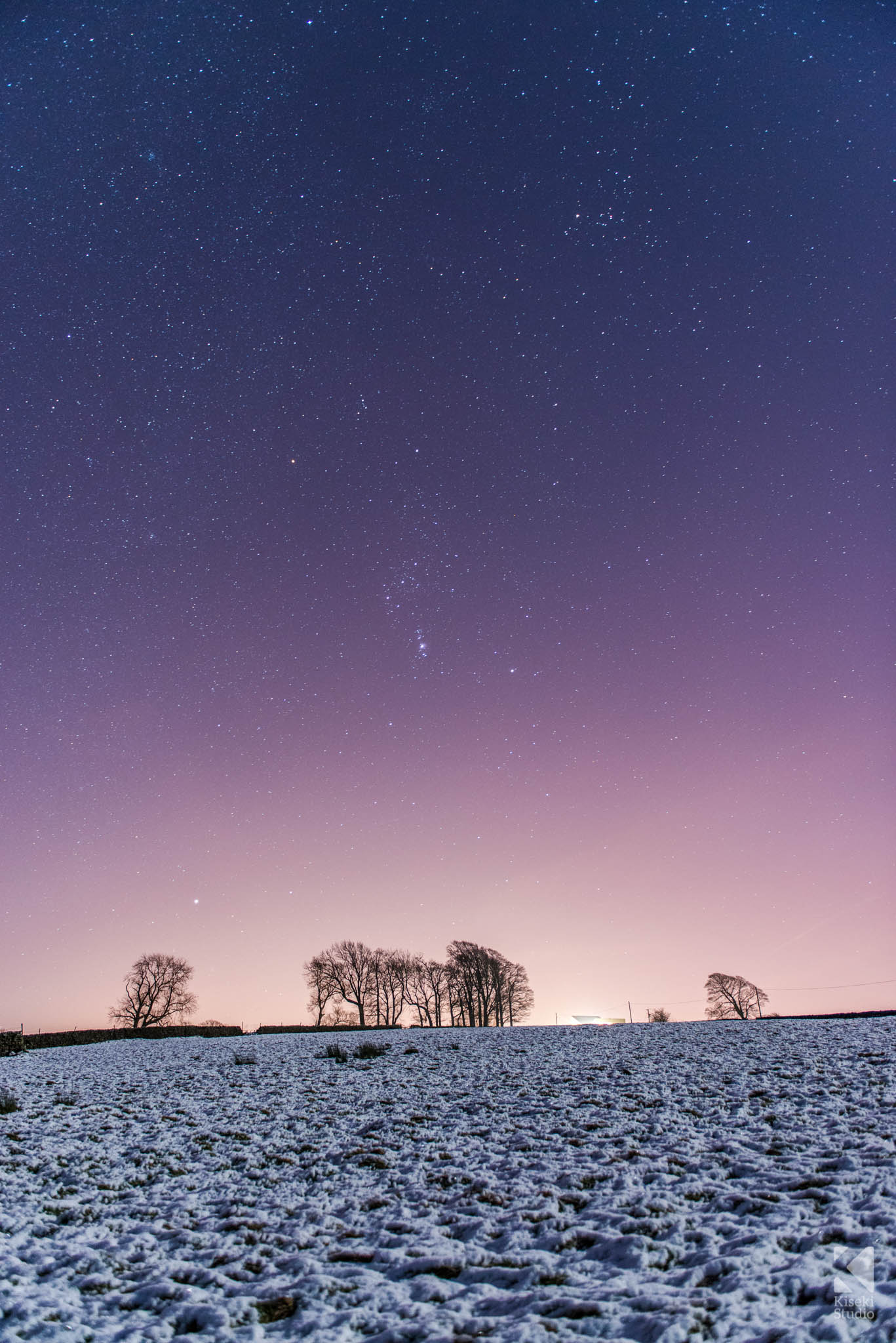 Winter Star Scene at Thruscross