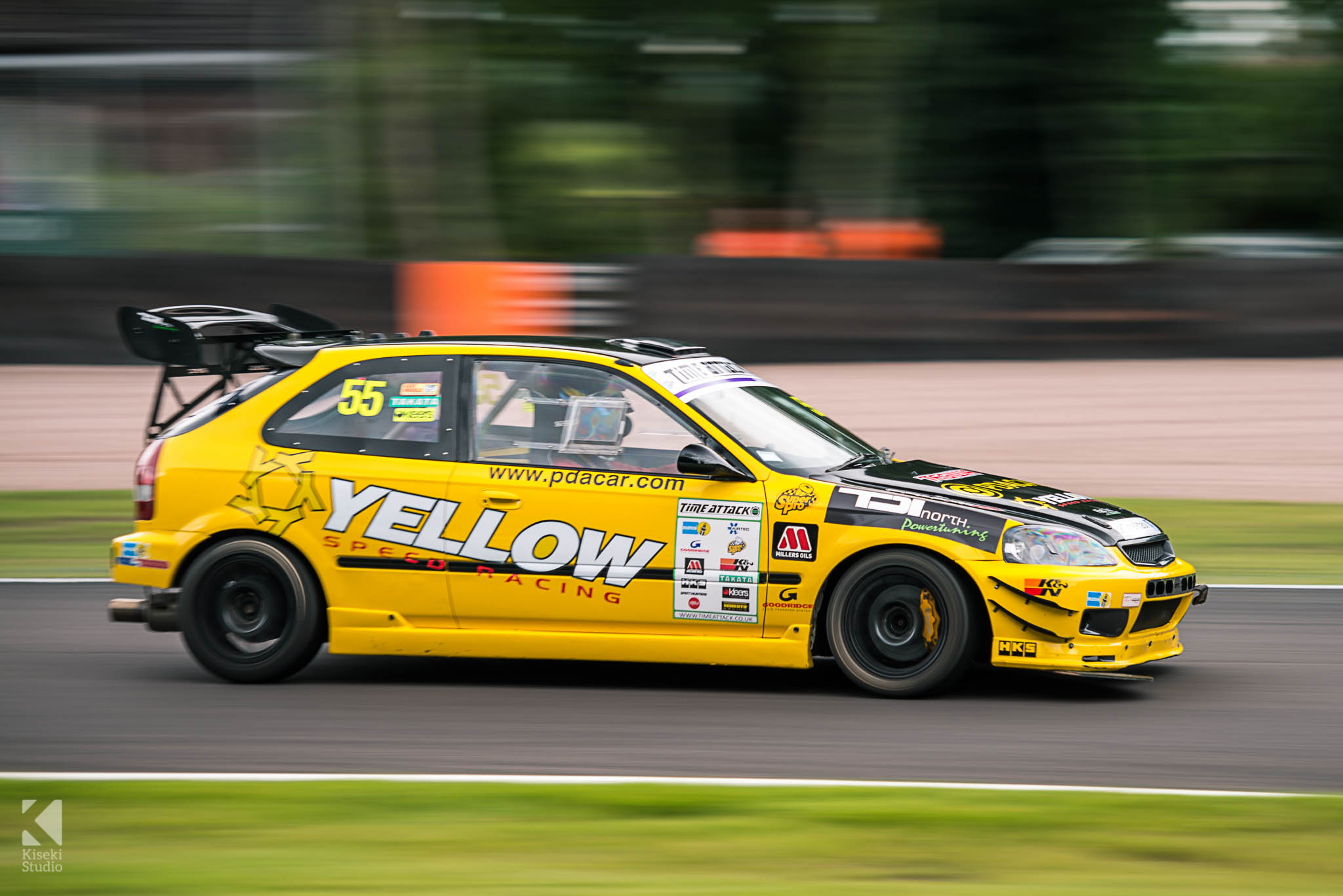 Honda Civic EK4 Yellow Speed Performance Time Attack