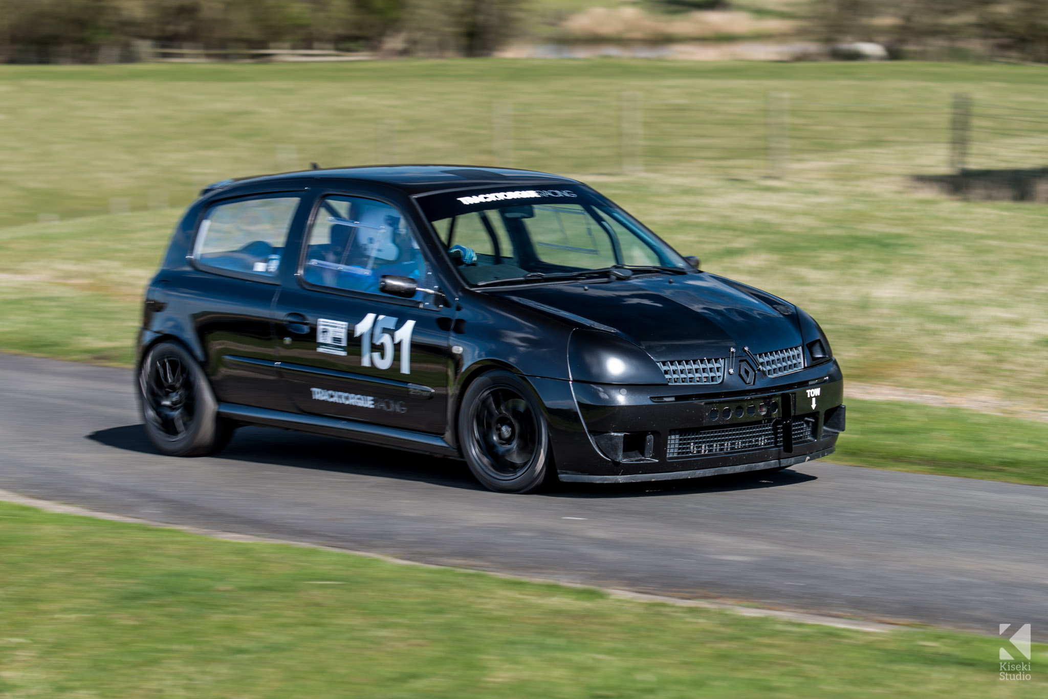 Renault Clio Sport Black Racing at Harewood