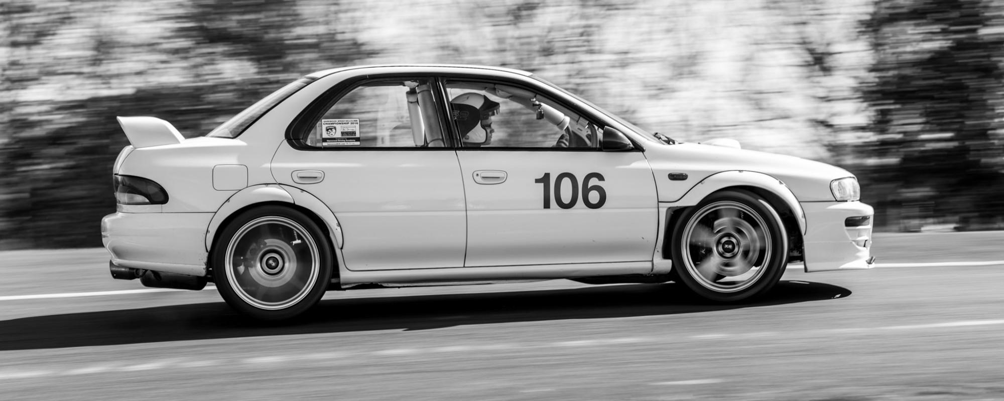 Subaru Impreza STI GC8 Harewood Hillclimb Cornering Fast
