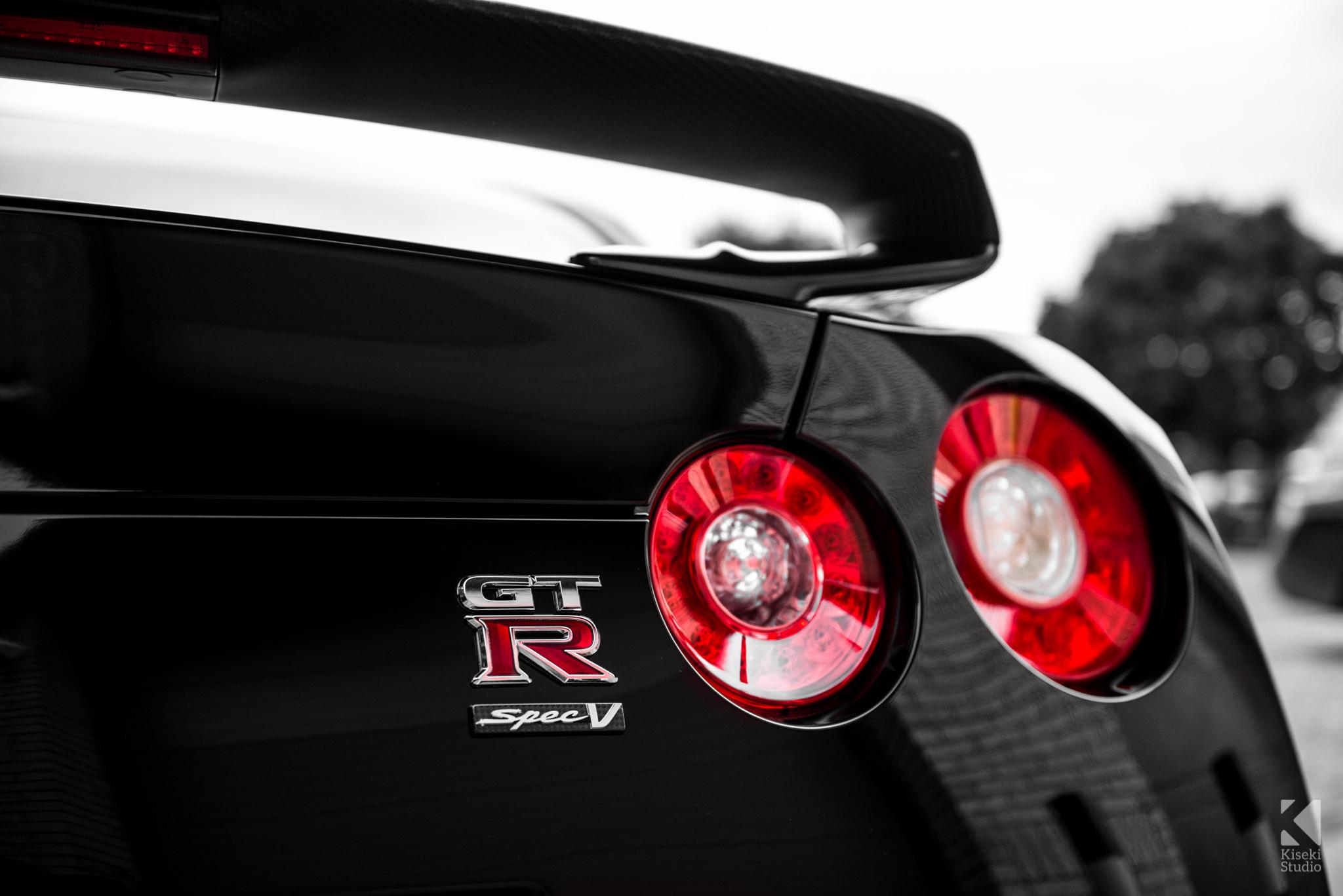 Nissan Gt R Spec V R35 Kiseki Studio Performance Specs Rear Lights And Badge Detail