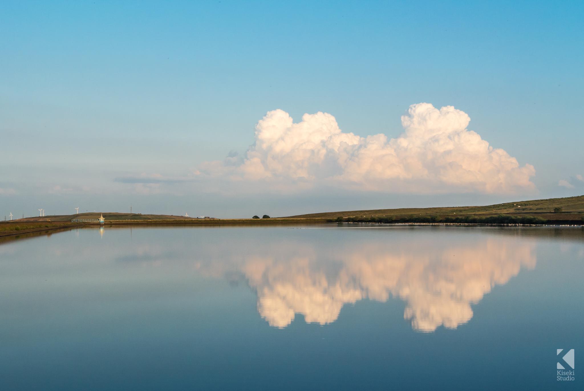 Cloudy Sunset at Thornton Moor Reservoir