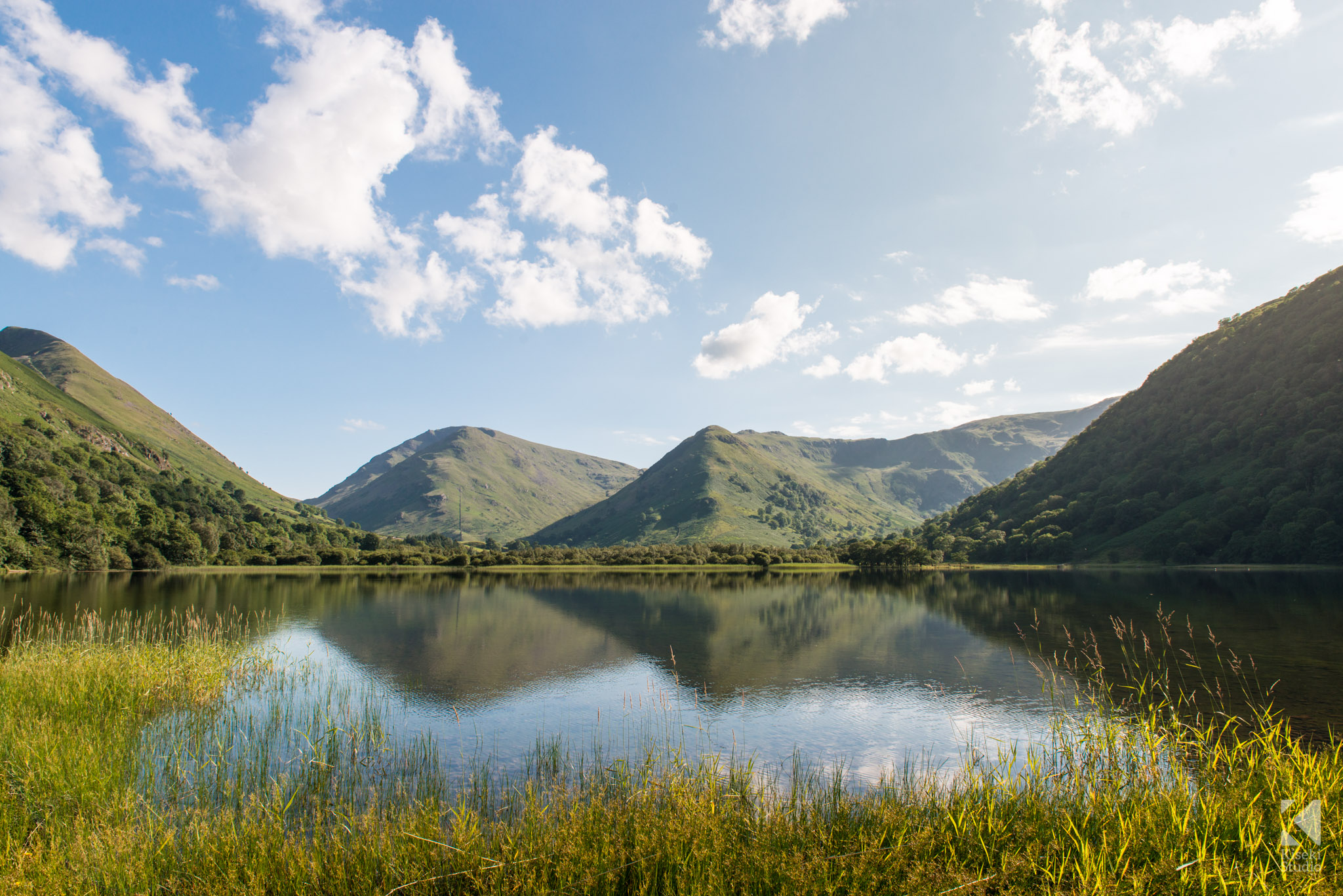 Brotherswater still lake scene