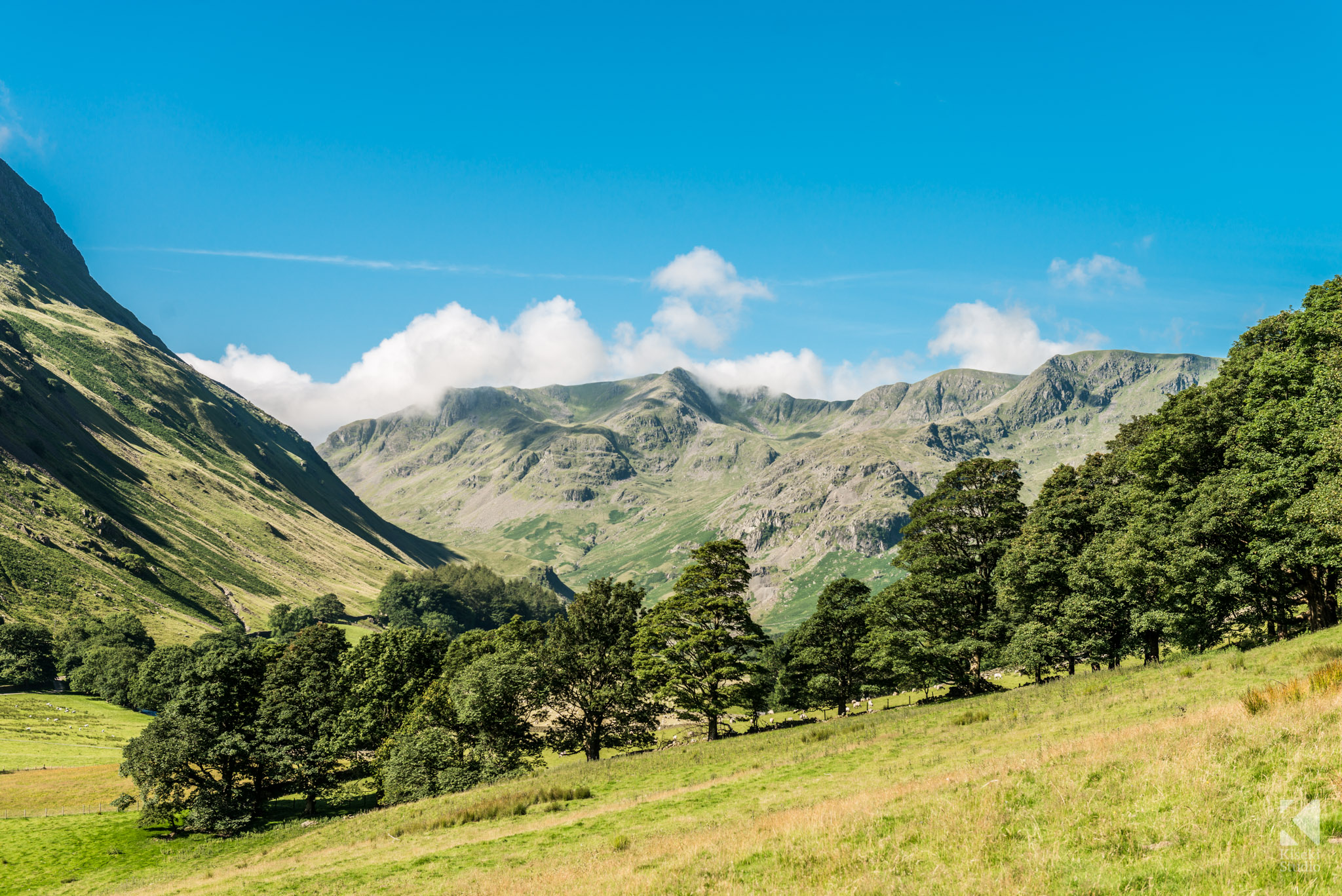 Looking towards the mountains from Patterdale