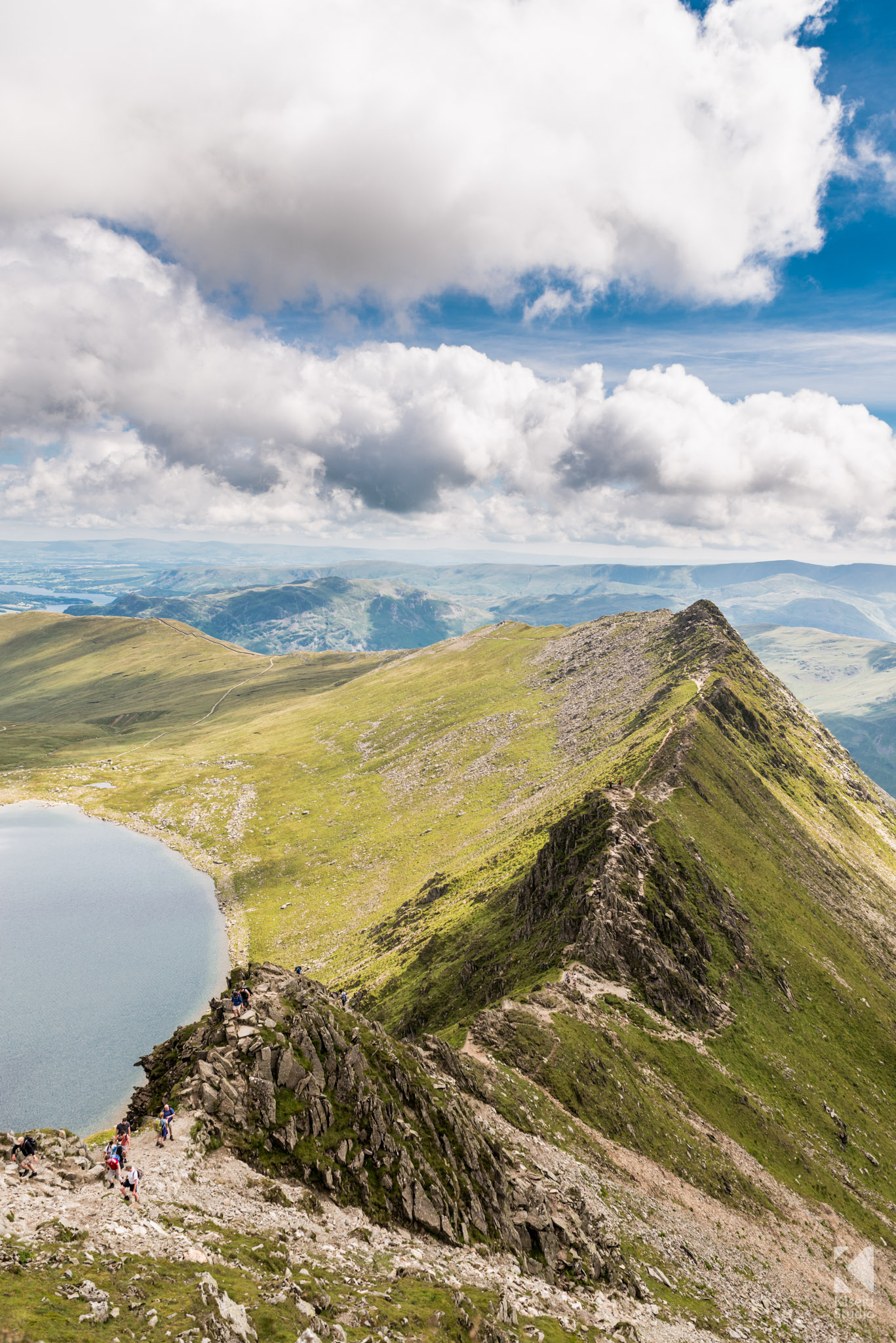 From Hellvellyn to Striding Edge and Red Tarn