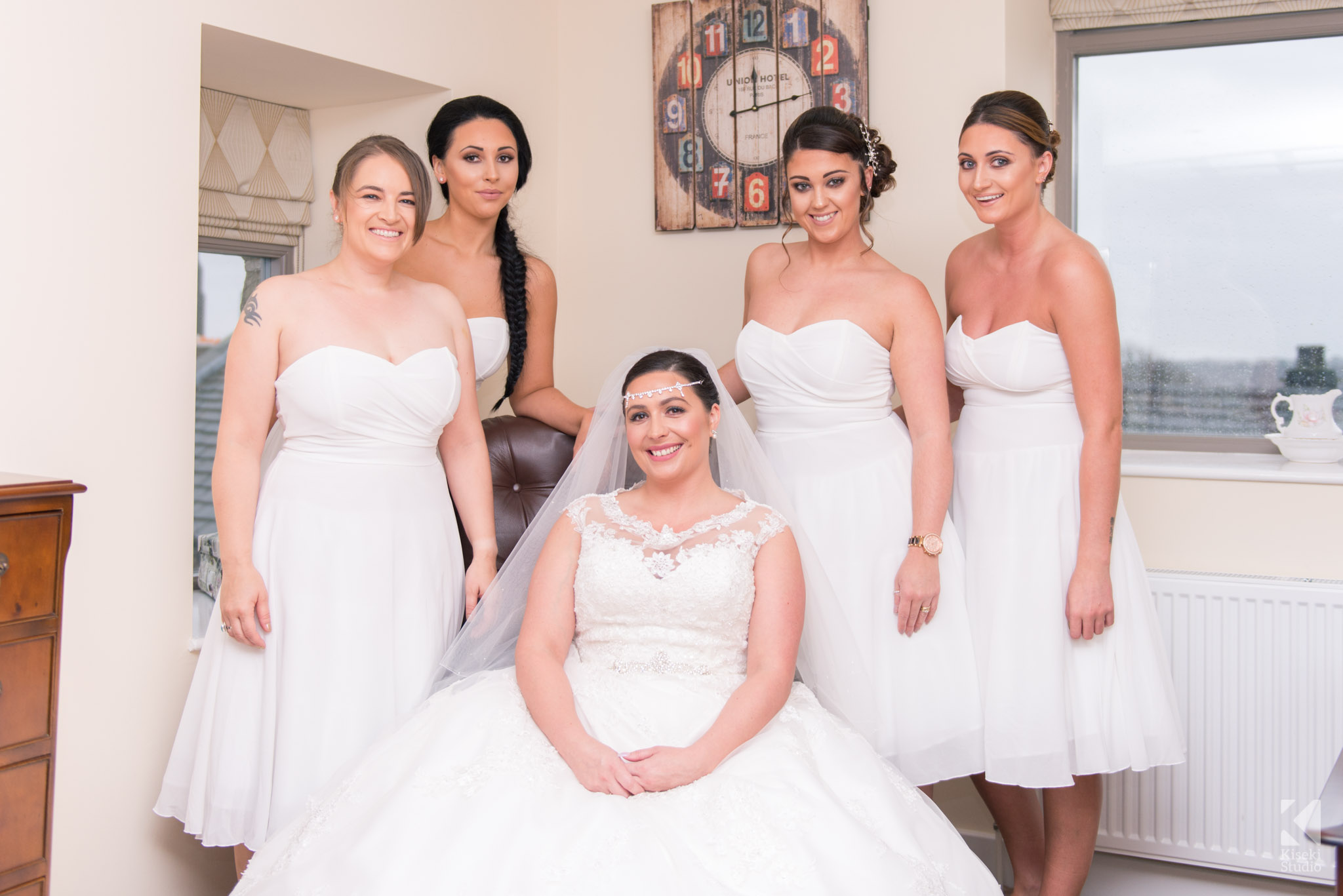 Bride and Bridesmaids together
